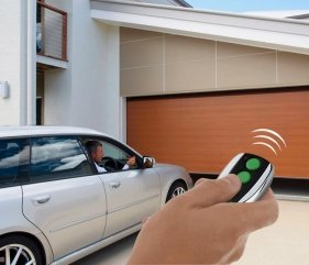 Garage door remote control